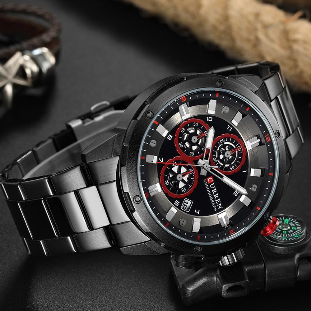 リロイhombresカレン腕時計ファッションスポーツクォーツメンズウォッチトップブランドの高級多機能防水時計レロジオmasculino_画像5