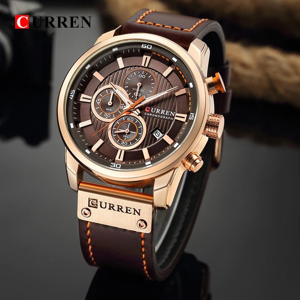カレンファッション日付クォーツ男性腕時計トップブランドの高級男性時計クロノグラフスポーツメンズ腕時計hodinkyレロジオmasculino_画像1