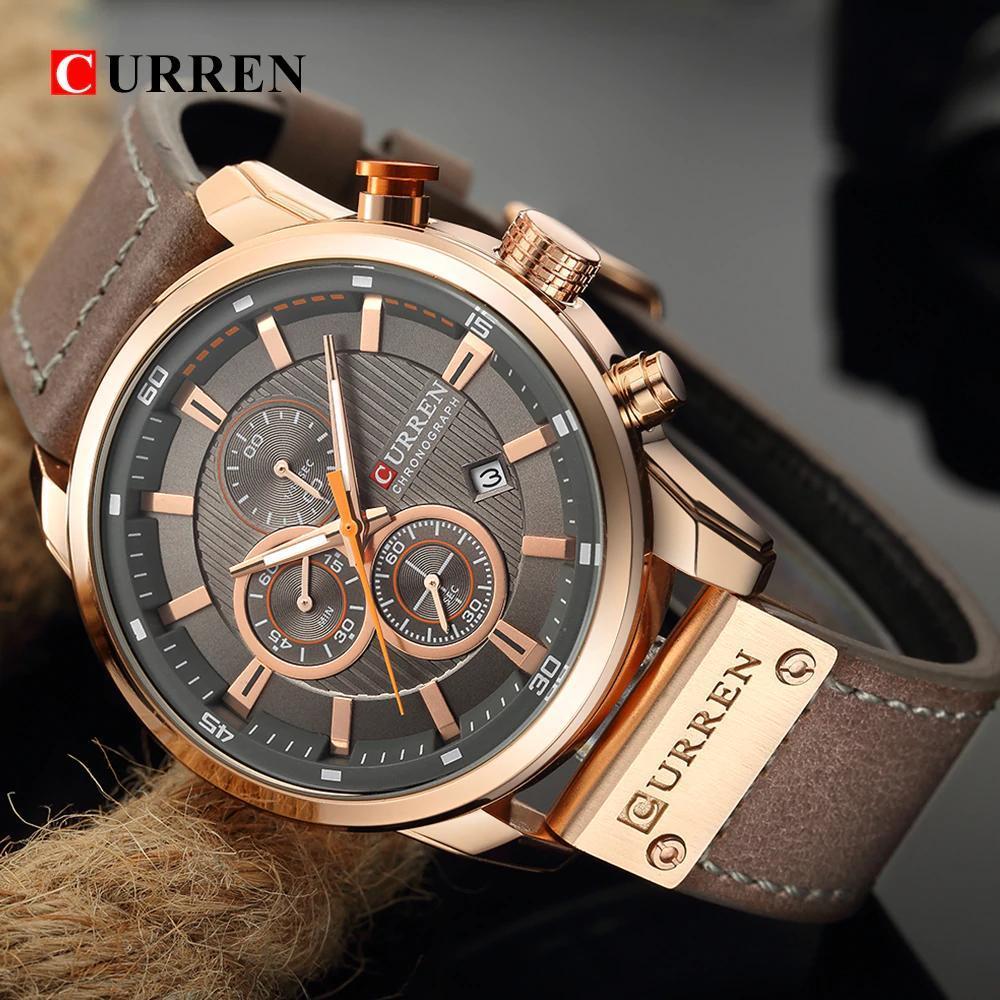 カレンファッション日付クォーツ男性腕時計トップブランドの高級男性時計クロノグラフスポーツメンズ腕時計hodinkyレロジオmasculino_画像3