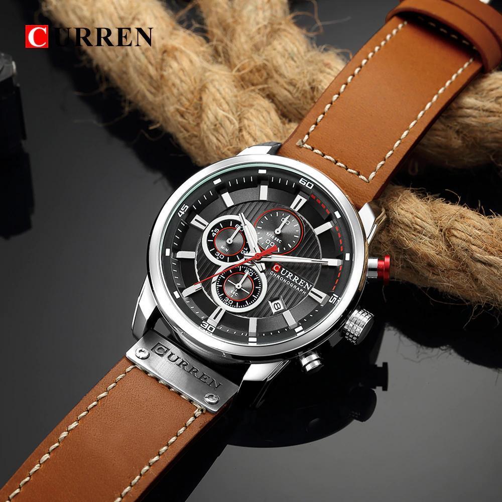 カレンファッション日付クォーツ男性腕時計トップブランドの高級男性時計クロノグラフスポーツメンズ腕時計hodinkyレロジオmasculino_画像5