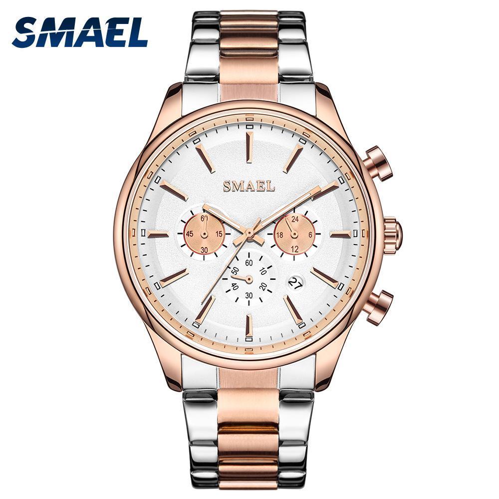 新しいでwacth 2020クォーツ時計男性防水レロジオmasculino自動日付男性時計9130ステンレス鋼腕時計男性_画像1