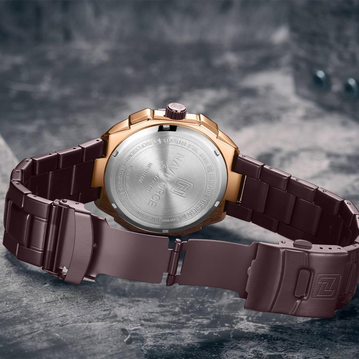 Naviforce ファッション男性高級ブランドのスポーツクォーツ腕時計男性ビッグダイヤル時計防水時計レロジオ masculino_画像3