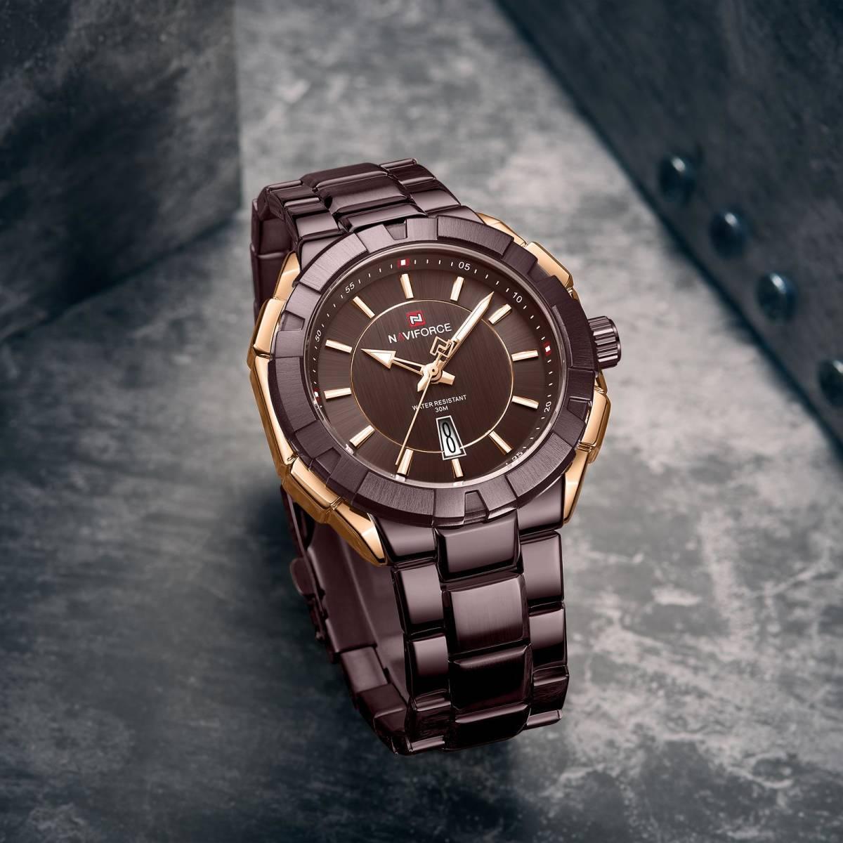 Naviforce ファッション男性高級ブランドのスポーツクォーツ腕時計男性ビッグダイヤル時計防水時計レロジオ masculino_画像4
