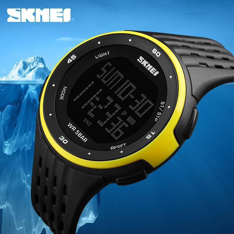 男性スポーツ腕時計 SKMEI ブランド 50 メートル防水デジタル LED 軍事時計の女性屋外エレクトロニクス腕時計レロジオ Masculino_画像1