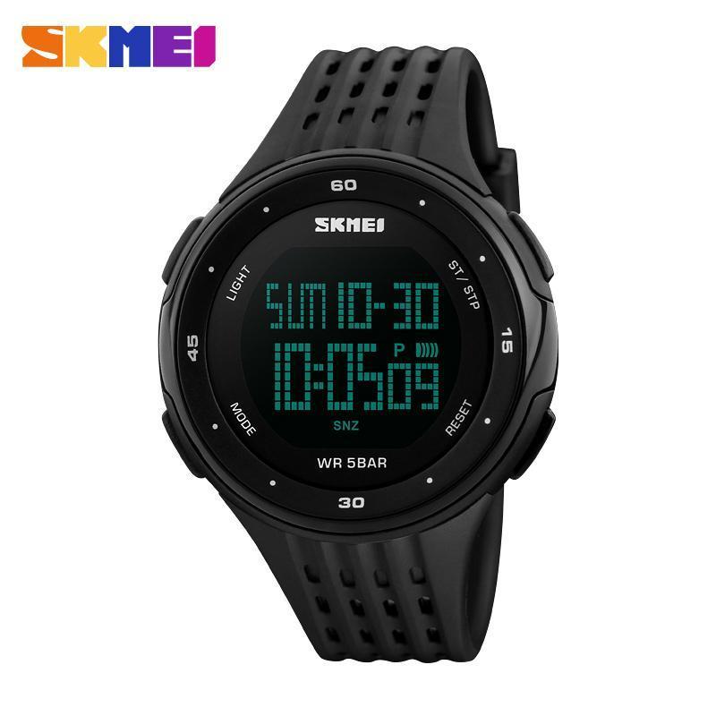 男性スポーツ腕時計 SKMEI ブランド 50 メートル防水デジタル LED 軍事時計の女性屋外エレクトロニクス腕時計レロジオ Masculino_画像2