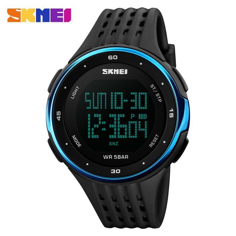 男性スポーツ腕時計 SKMEI ブランド 50 メートル防水デジタル LED 軍事時計の女性屋外エレクトロニクス腕時計レロジオ Masculino_画像3