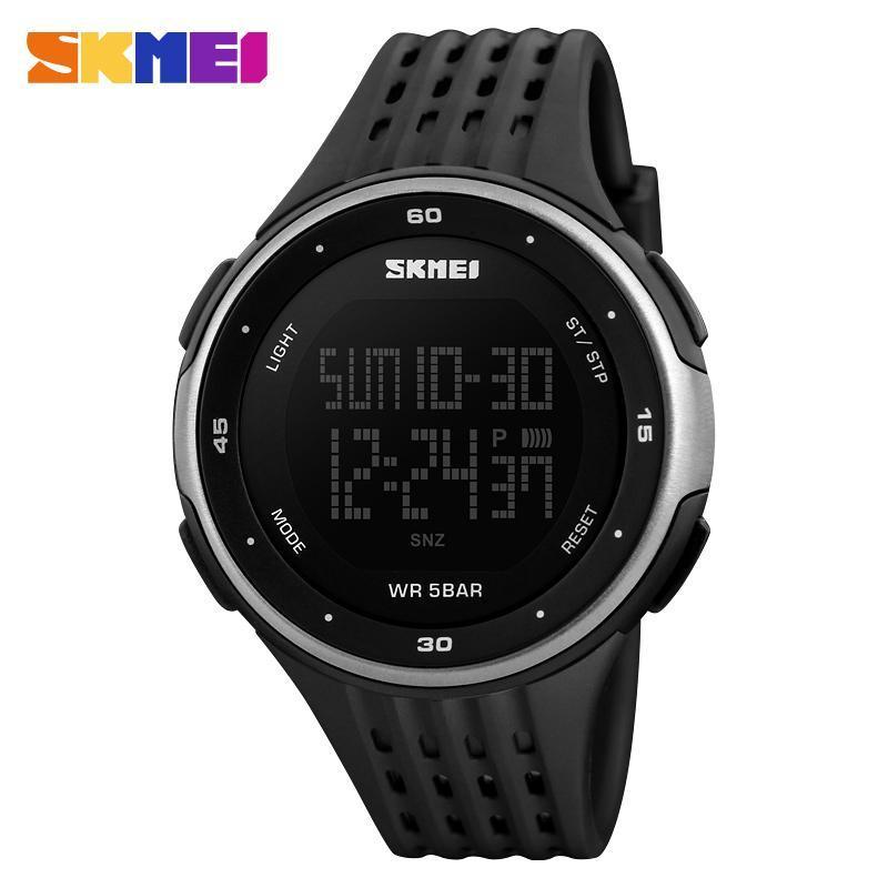 男性スポーツ腕時計 SKMEI ブランド 50 メートル防水デジタル LED 軍事時計の女性屋外エレクトロニクス腕時計レロジオ Masculino_画像4