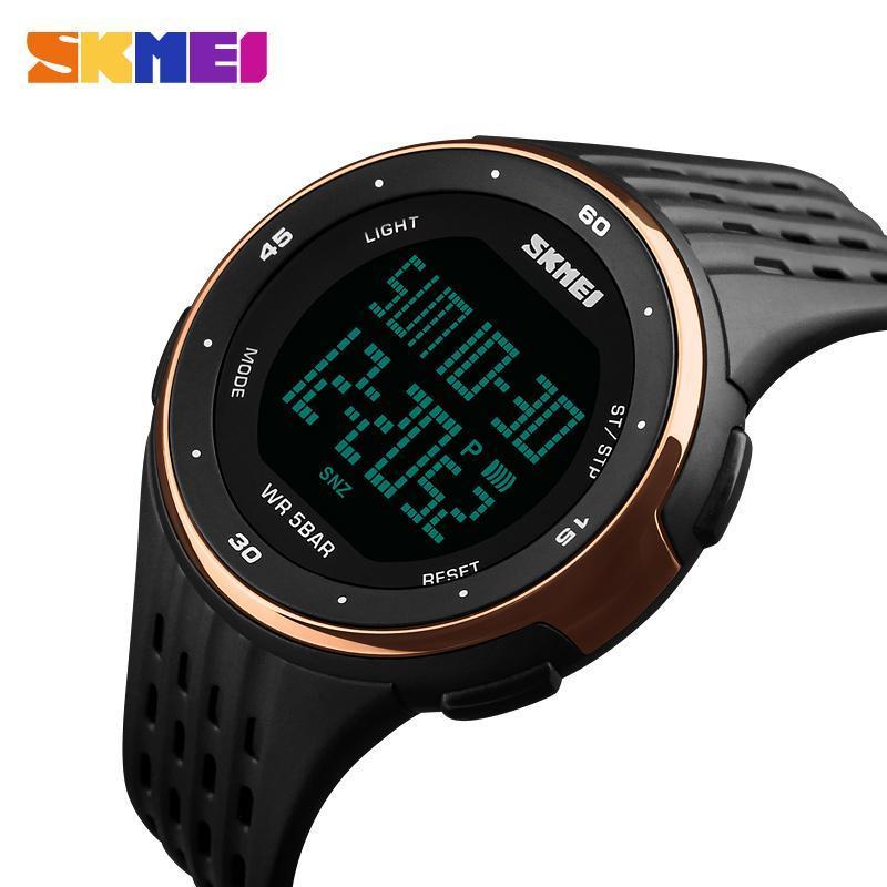 男性スポーツ腕時計 SKMEI ブランド 50 メートル防水デジタル LED 軍事時計の女性屋外エレクトロニクス腕時計レロジオ Masculino_画像5