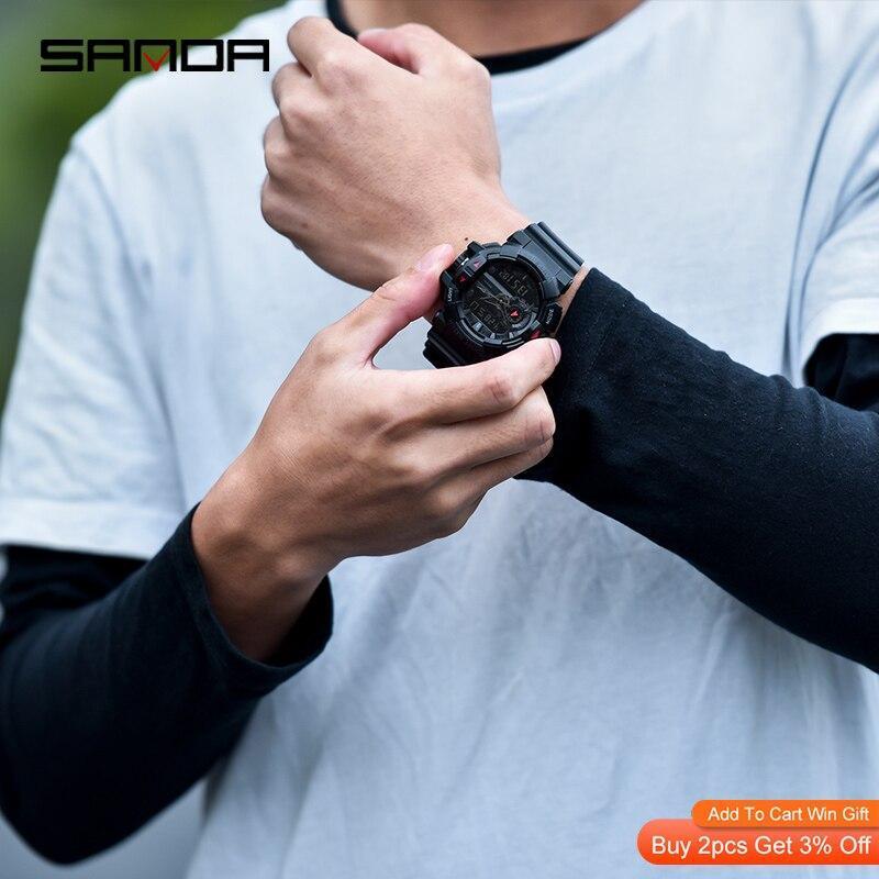 三田 599 ミリタリーメンズ腕時計トップブランドの高級防水スポーツ腕時計ファッションクォーツ時計男性時計レロジオ masculino_画像2