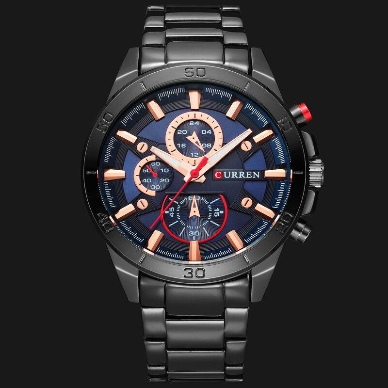 カレン高級ブランドメンズ腕時計ファッションアナログスポーツ腕時計カジュアルクォーツフルスチールバンド男性時計レロジオmasculino_画像1