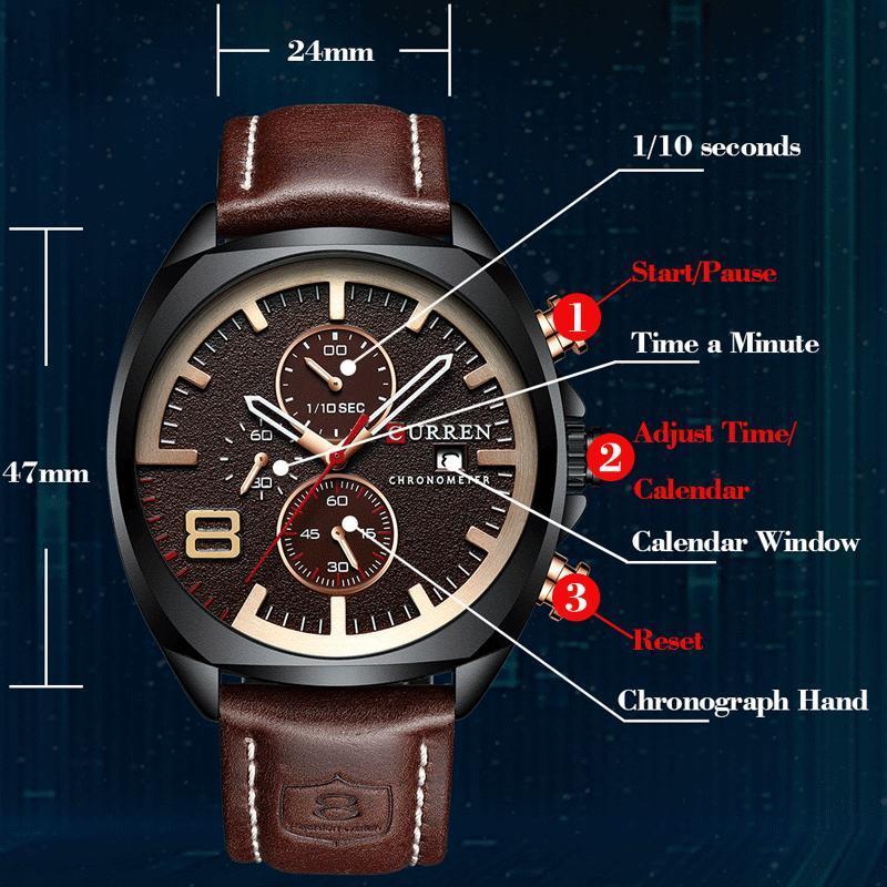 2019男性はトップブランドの高級カレン軍事アナログクォーツ腕時計メンズスポーツ腕時計レロジオmasculino防水30メートル_画像4