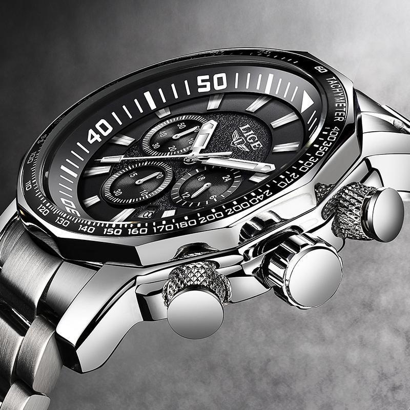 2020 ligeトップブランドの高級時計男性ミリタリースポーツ防水腕時計メンズクォーツ時計レロジオmasculino_画像1
