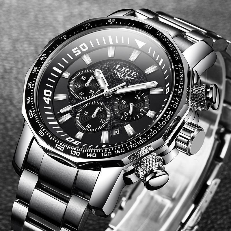 2020 ligeトップブランドの高級時計男性ミリタリースポーツ防水腕時計メンズクォーツ時計レロジオmasculino_画像2