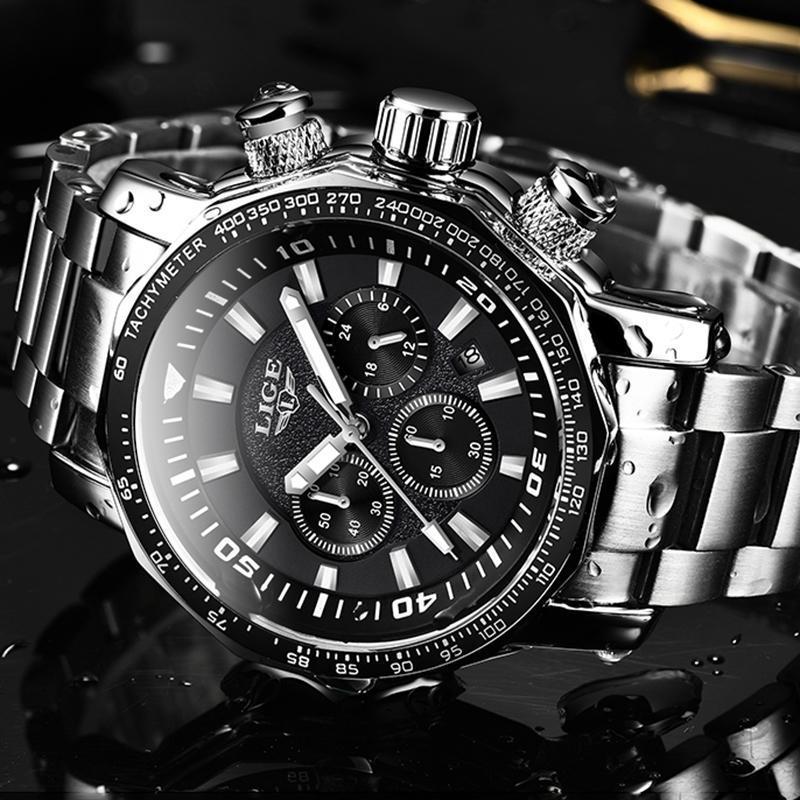 2020 ligeトップブランドの高級時計男性ミリタリースポーツ防水腕時計メンズクォーツ時計レロジオmasculino_画像3