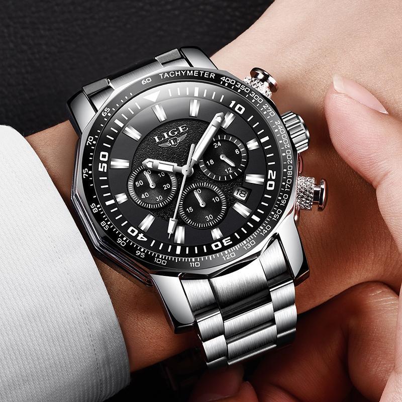 2020 ligeトップブランドの高級時計男性ミリタリースポーツ防水腕時計メンズクォーツ時計レロジオmasculino_画像5