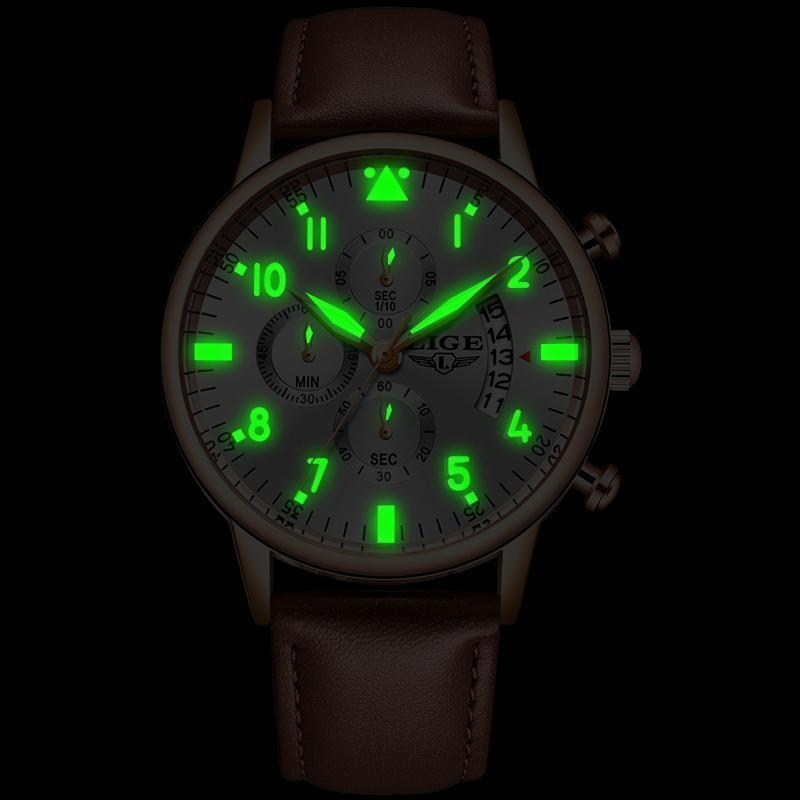 2020 ligeメンズ腕時計トップブランドの高級防水24時間日付クォーツ時計男性腕時計レロジオmasculino_画像4
