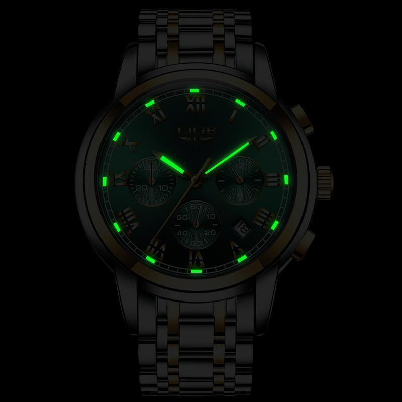 2020新ligeトップブランドの高級メンズ腕時計30メートル防水日付時計男性スポーツ腕時計メンズクォーツ腕時計レロジオmasculino_画像4