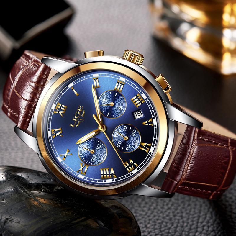 Ligeファッション腕時計メンズスポーツ防水日付アナログクォーツメンズウォッチトップブランドの高級ビジネス腕時計レロジオmasculino_画像1