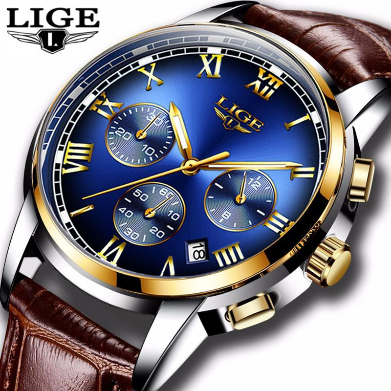 Ligeファッション腕時計メンズスポーツ防水日付アナログクォーツメンズウォッチトップブランドの高級ビジネス腕時計レロジオmasculino_画像2