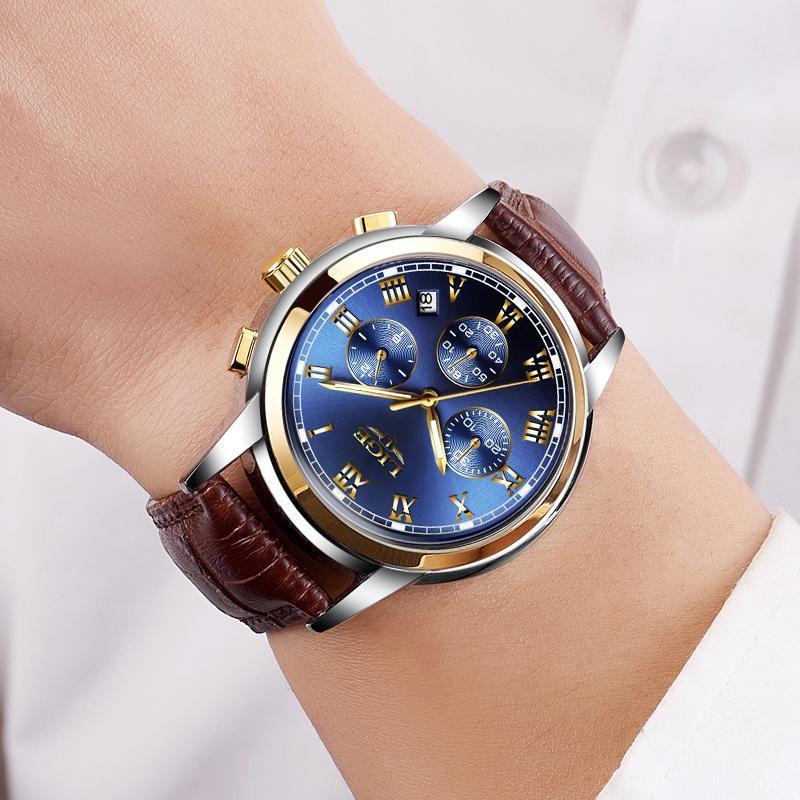 Ligeファッション腕時計メンズスポーツ防水日付アナログクォーツメンズウォッチトップブランドの高級ビジネス腕時計レロジオmasculino_画像5