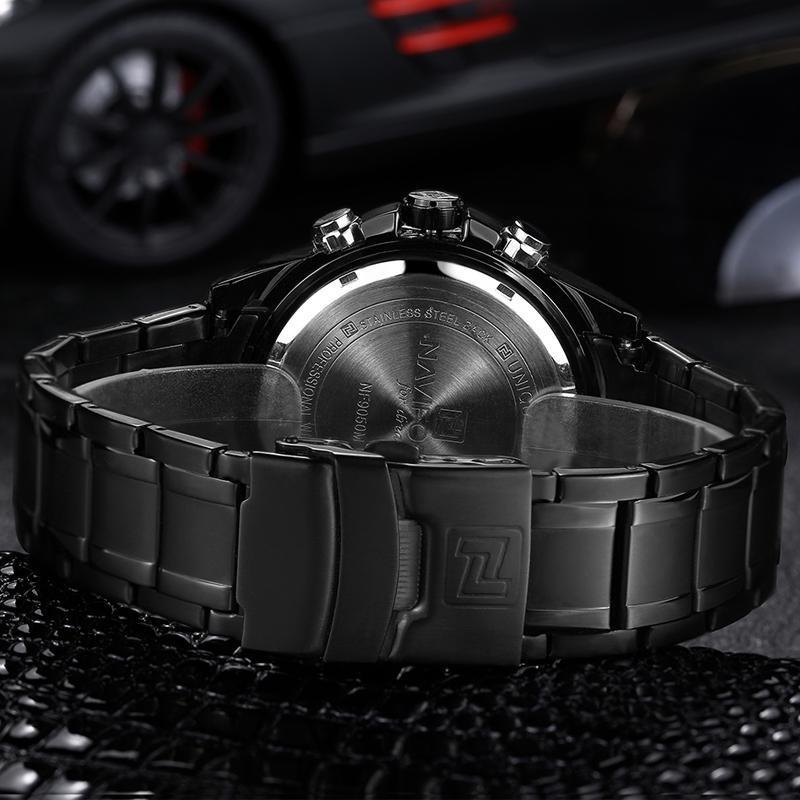 NAVIFORCE トップ高級ブランド男性 3Bar 防水 LED スポーツ軍事腕時計男性クォーツアナログデジタル腕時計レロジオ Masculino_画像4