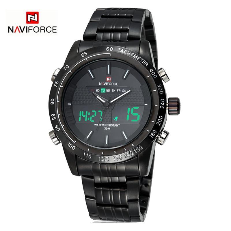 NAVIFORCE メンズ腕時計トップブランドの高級カジュアルクォーツ時計男防水軍事男性時間ステンレス鋼レロジオ Masculino_画像3