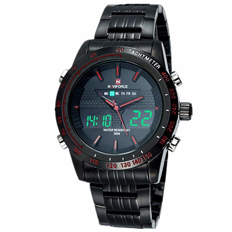 NAVIFORCE メンズ腕時計トップブランドの高級カジュアルクォーツ時計男防水軍事男性時間ステンレス鋼レロジオ Masculino_画像5