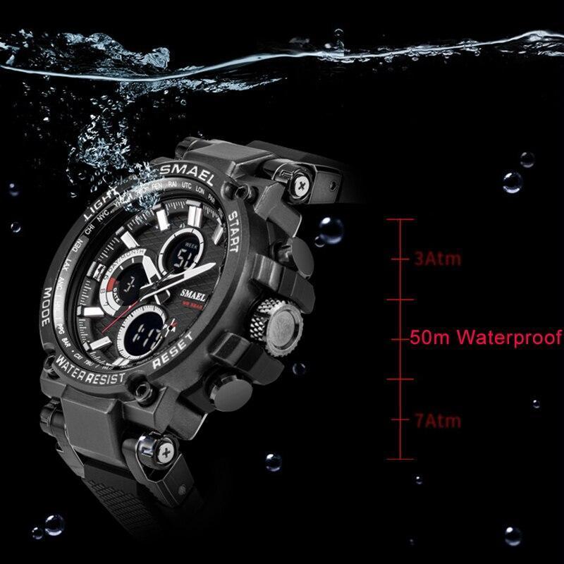 Smaelメンズ腕時計デジタル防水時計男性軍ミリタリー腕時計ledメンズ腕時計1803スポーツ腕時計レロジオmasculino_画像4