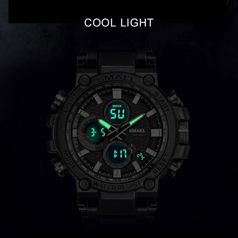 Smaelメンズ腕時計デジタル防水時計男性軍ミリタリー腕時計ledメンズ腕時計1803スポーツ腕時計レロジオmasculino_画像5