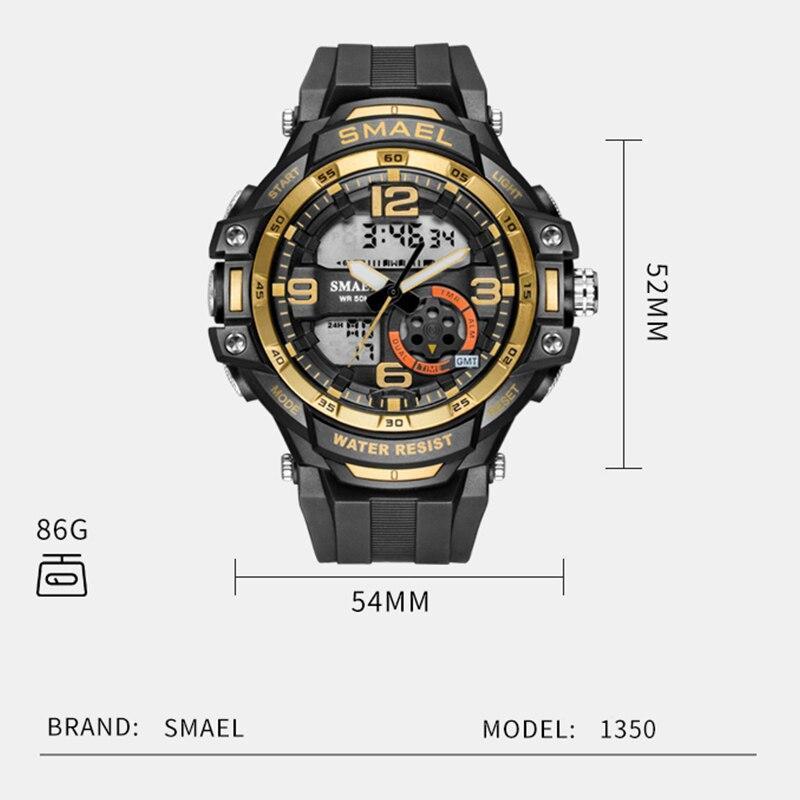 Smaelメンズ腕時計防水スポーツ腕時計デジタル腕時計ミリタリー時計アラーム1350Bレロジオmasculinoクォーツ時計スポーツ_画像3