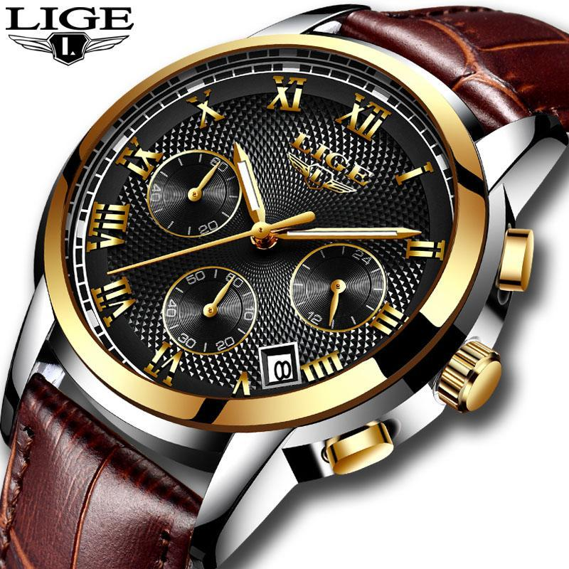 メンズ腕時計ファッションブランドlige多機能クロノグラフ時計ミリタリースポーツ時計男性男性時計レロジオmasculino_画像1