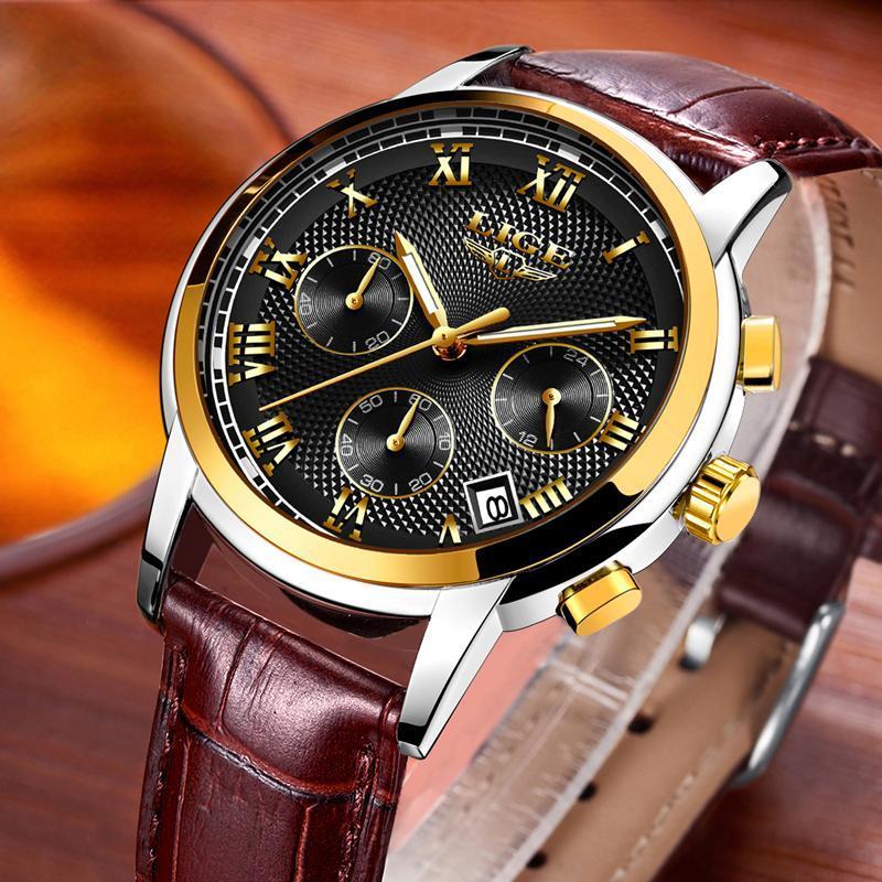 メンズ腕時計ファッションブランドlige多機能クロノグラフ時計ミリタリースポーツ時計男性男性時計レロジオmasculino_画像2