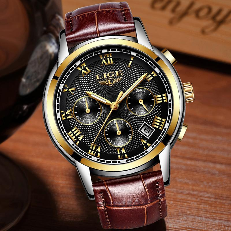 メンズ腕時計ファッションブランドlige多機能クロノグラフ時計ミリタリースポーツ時計男性男性時計レロジオmasculino_画像3
