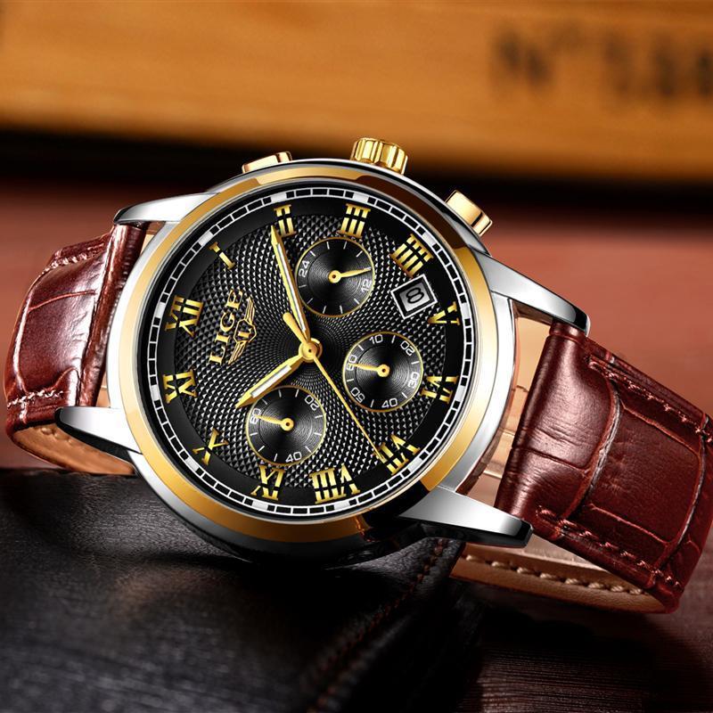 メンズ腕時計ファッションブランドlige多機能クロノグラフ時計ミリタリースポーツ時計男性男性時計レロジオmasculino_画像4