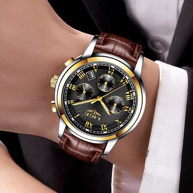 メンズ腕時計ファッションブランドlige多機能クロノグラフ時計ミリタリースポーツ時計男性男性時計レロジオmasculino_画像5
