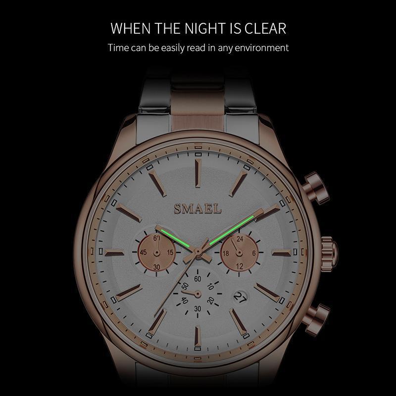 新しいでwacth 2020クォーツ時計男性防水レロジオmasculino自動日付男性時計9130ステンレス鋼腕時計男性_画像3
