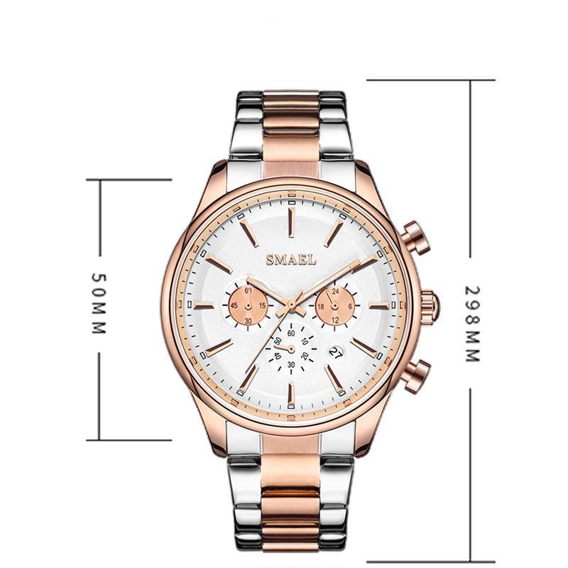 新しいでwacth 2020クォーツ時計男性防水レロジオmasculino自動日付男性時計9130ステンレス鋼腕時計男性_画像5