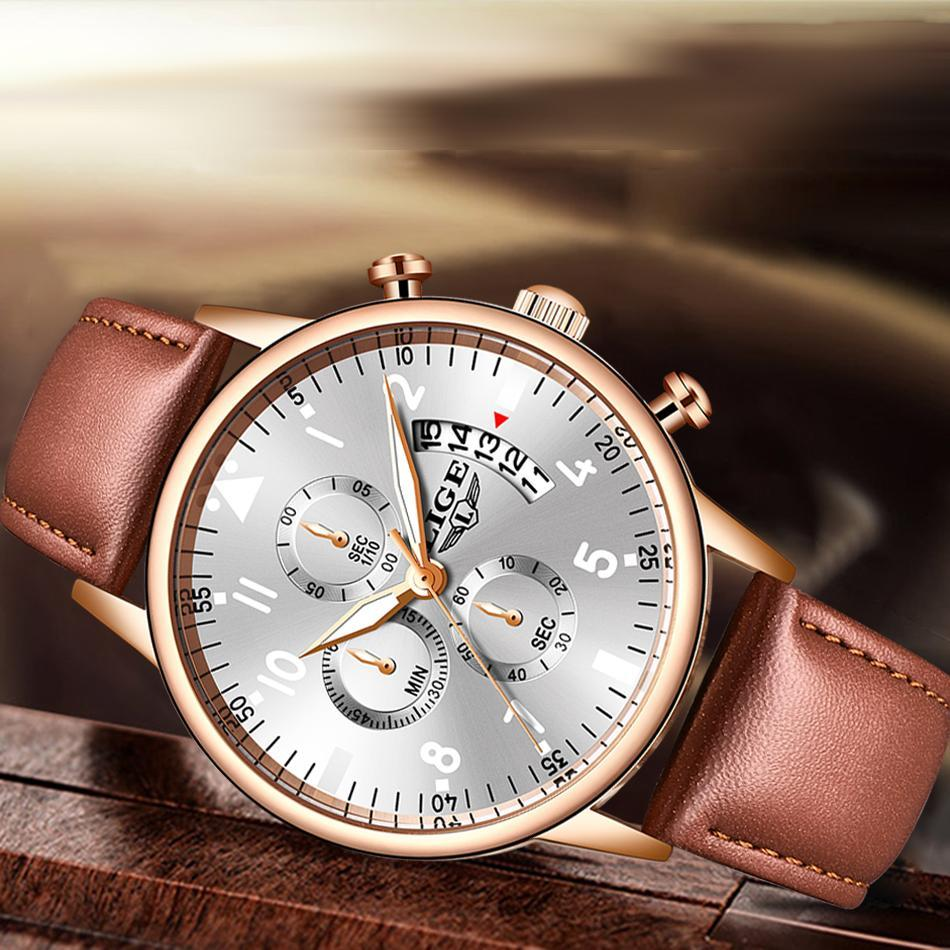 2020 ligeメンズ腕時計トップブランドの高級防水24時間日付クォーツ時計男性腕時計レロジオmasculino_画像2