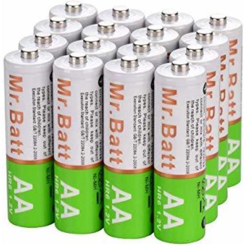 単3充電池8個パック Mr.Batt 単3形 充電池 充電式ニッケル水素電池 1.2V 1600mAh 8本入り 約1200回_画像1