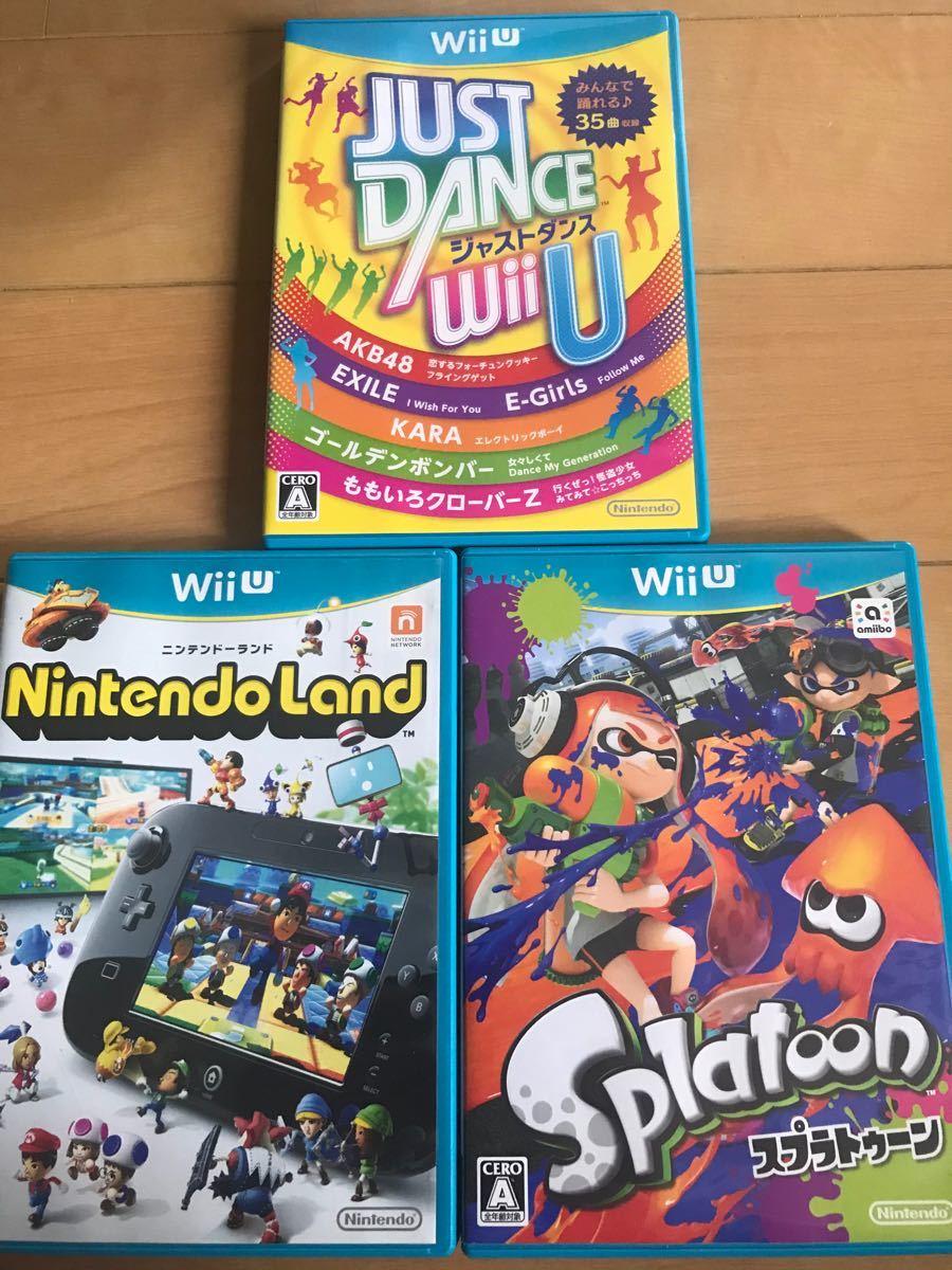 WiiU ソフト ニンテンドーランド スプラトゥーン ジャストダンス