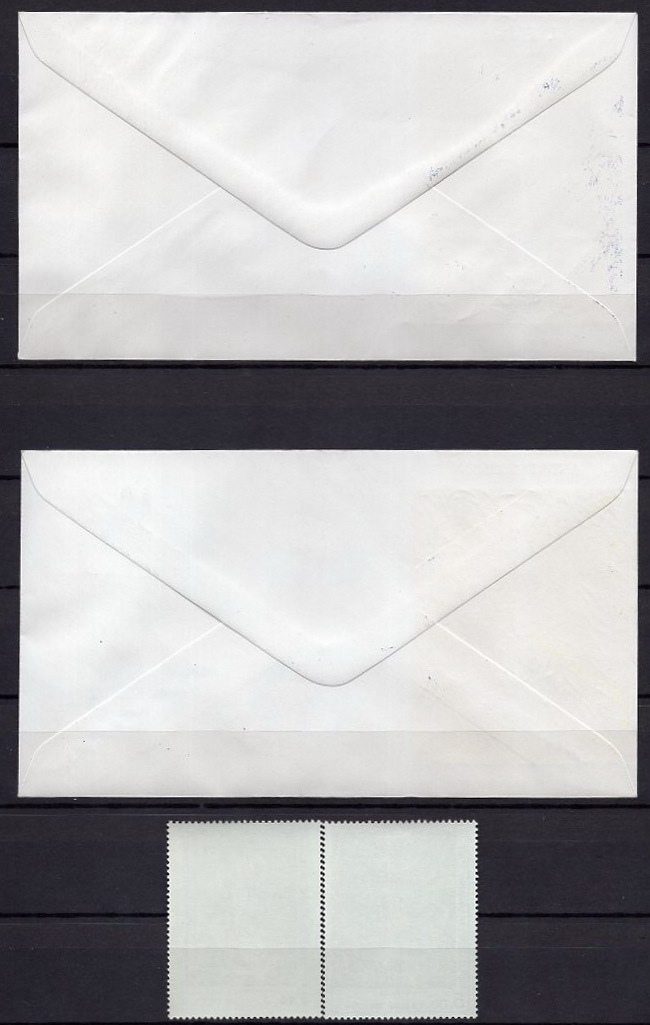 ★1984年フランス-「画家ジャン・エリオン/アンドレ・マッソン」絵画切手 未使用 2種完(NH)+初日カバー FDC 2枚(SC#1911-1912)★YC-140_画像5