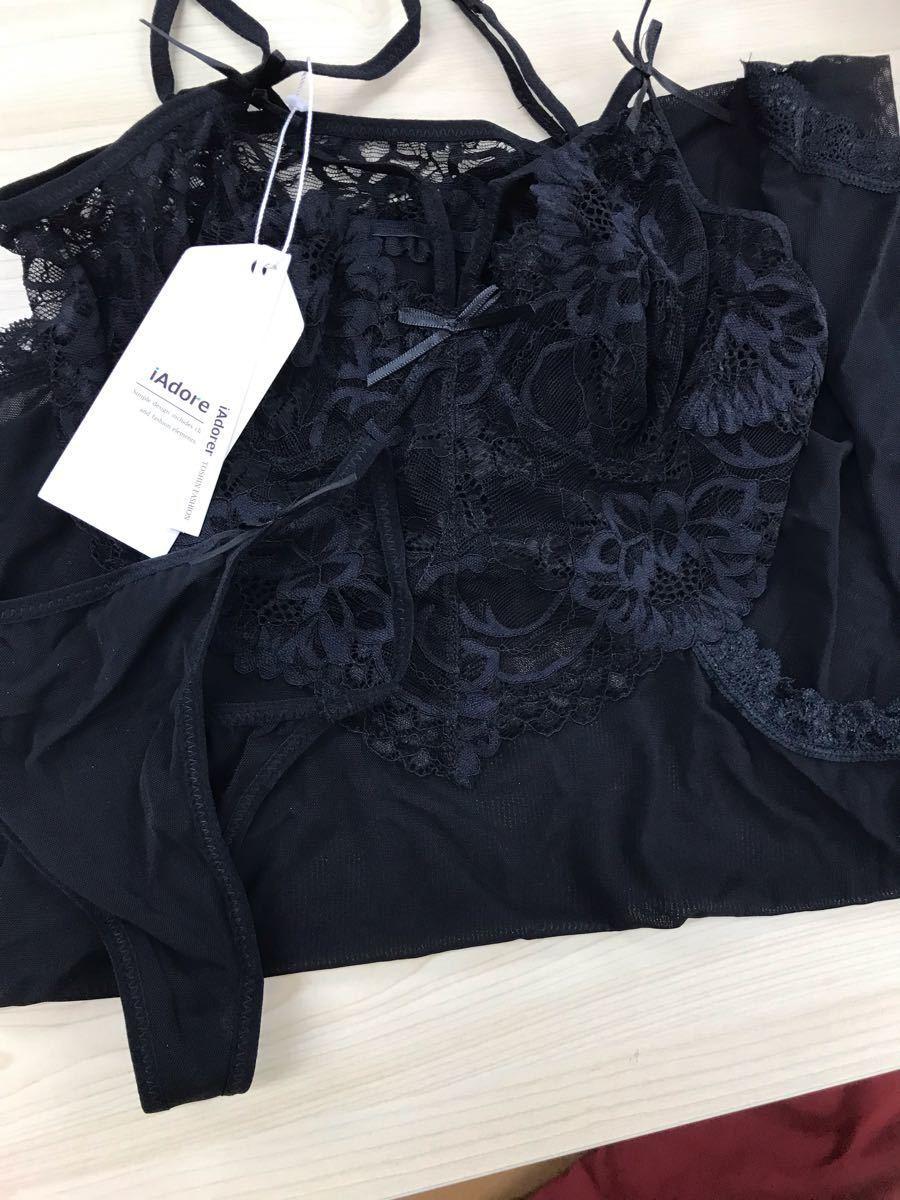 セクシー ランジェリー ベビードール レディース コスプレ衣装 透け ブラック