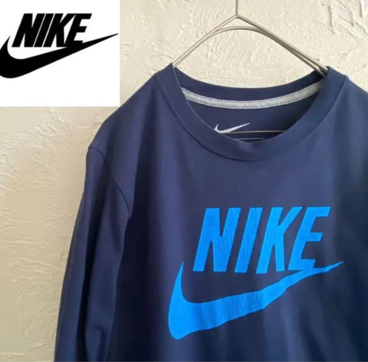 【デカロゴ】NIKE、ナイキ 長袖 Tシャツ デカロゴ、ビッグロゴ