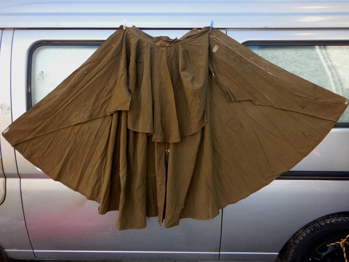 ②戦前 戦中 日本陸軍 陸軍 日本軍 将校 士官 尉官 外套 将校用外套 マント 防寒マント フード付き 軍装品 当時もの_画像6