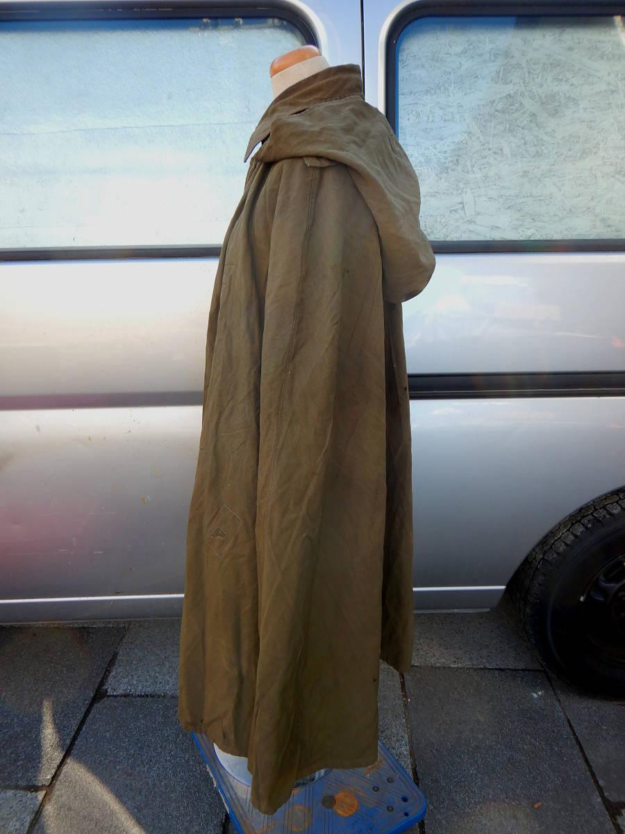 ②戦前 戦中 日本陸軍 陸軍 日本軍 将校 士官 尉官 外套 将校用外套 マント 防寒マント フード付き 軍装品 当時もの_画像3