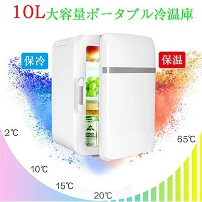 最新版 小型冷蔵庫 ミニ冷蔵庫 冷温庫 10L 保冷 保温 家庭 車載両用 自動車用 ポータブル コンパクト AC DC_画像2