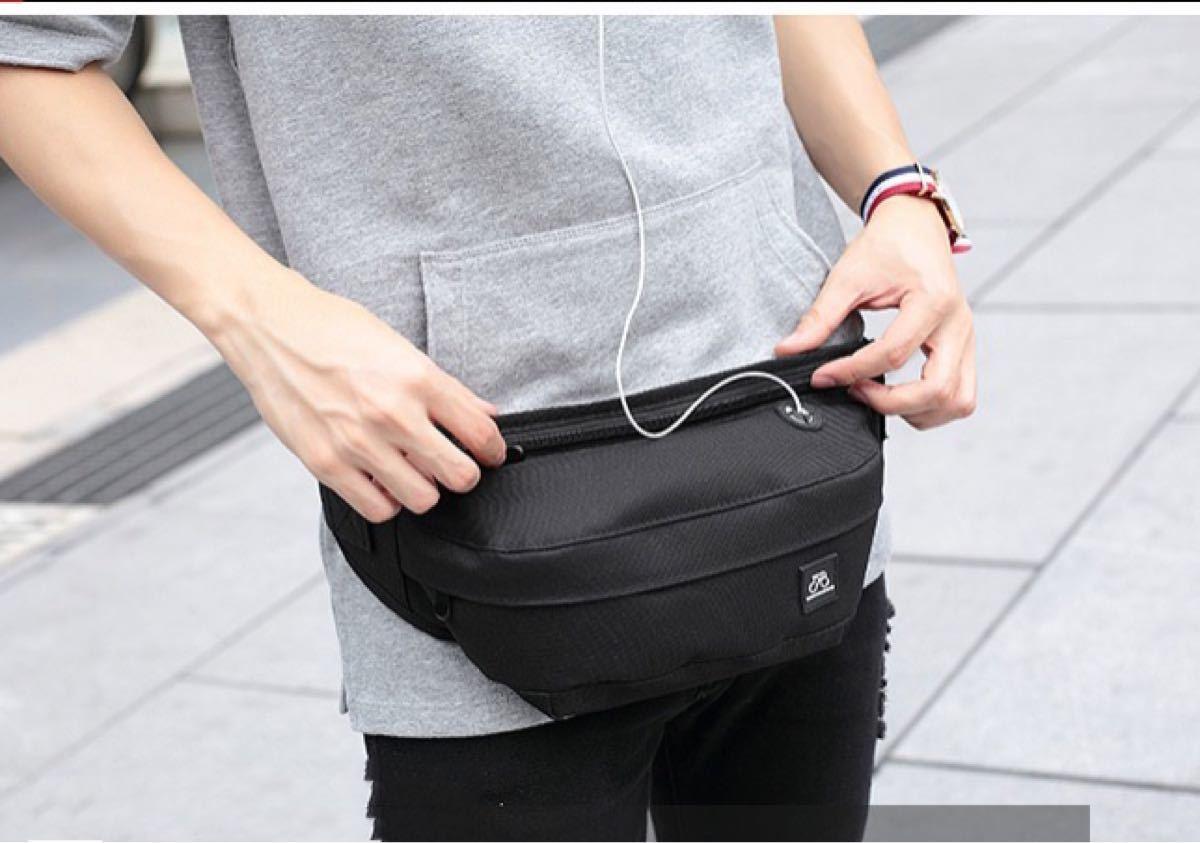 【男女兼用】軽量ボディーバッグ  ショルダーバッグ メッセンジャーバッグヒップバッグ ウエストポーチ ウエストバッグ