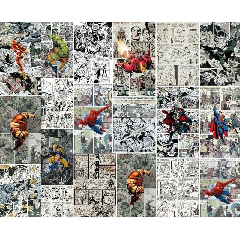 ジョイントレスカスタム3D壁紙壁画コミック3D子供ルームのテレビの背景の壁の装飾紙_画像5