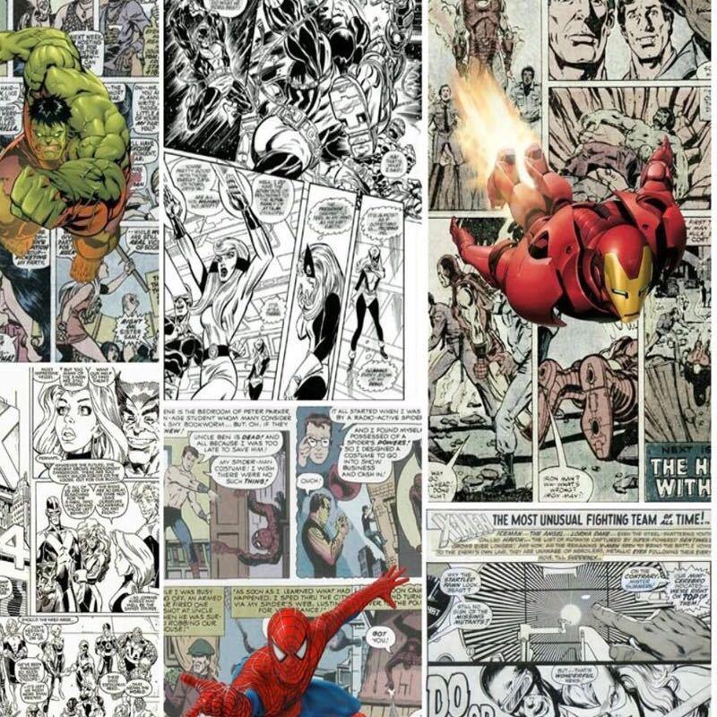 ジョイントレスカスタム3D壁紙壁画コミック3D子供ルームのテレビの背景の壁の装飾紙_画像3