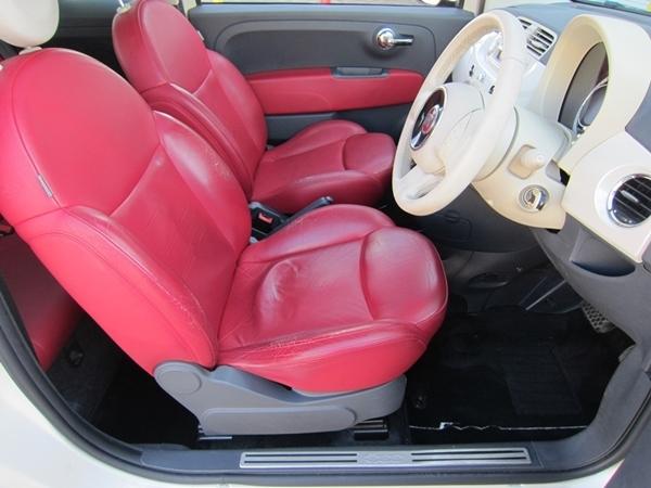 150台限定 特別仕様車 フィアット500 1.4 16V ラウンジSS 機関良好/修復無し/車検R4年1月【サンルーフ/16インチAW/専用デザインレザー/CD】_若干の使用感程度で綺麗な状態です